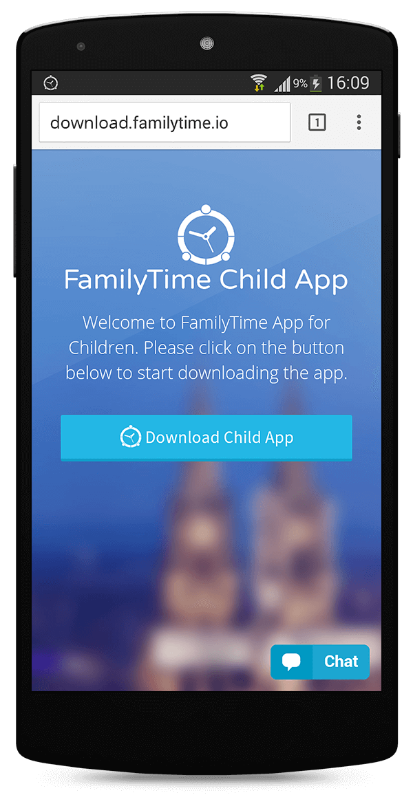 Downloading FamilyTime – Child Dashboard on Android