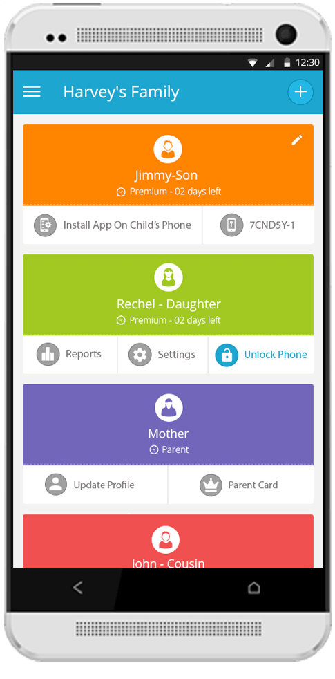 FamilyTime – Dashboard on Android OS